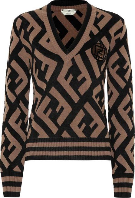 Fendi Logo wool-blend sweater