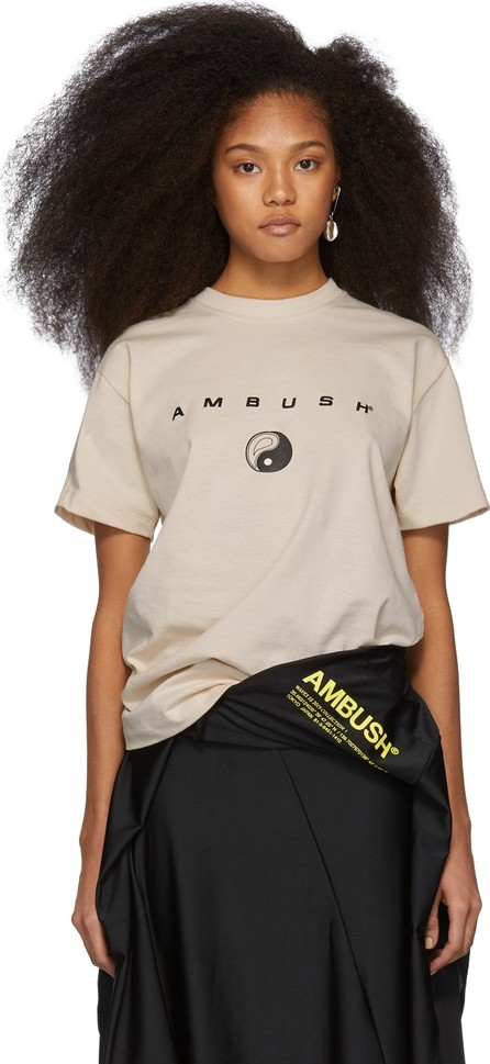 Ambush SSENSE Exclusive Beige Logo T-Shirt