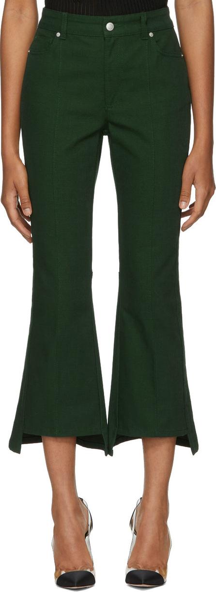 Alexander McQueen Green Kickback Trousers