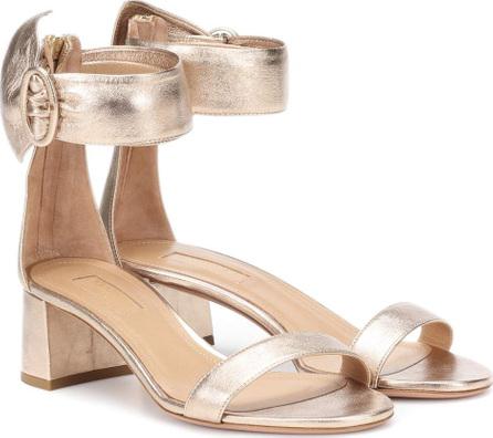 Aquazzura Palace 50 leather sandals