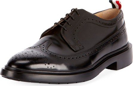 Thom Browne Men's Classic Long Wing-Tip Brogue Oxford Shoes