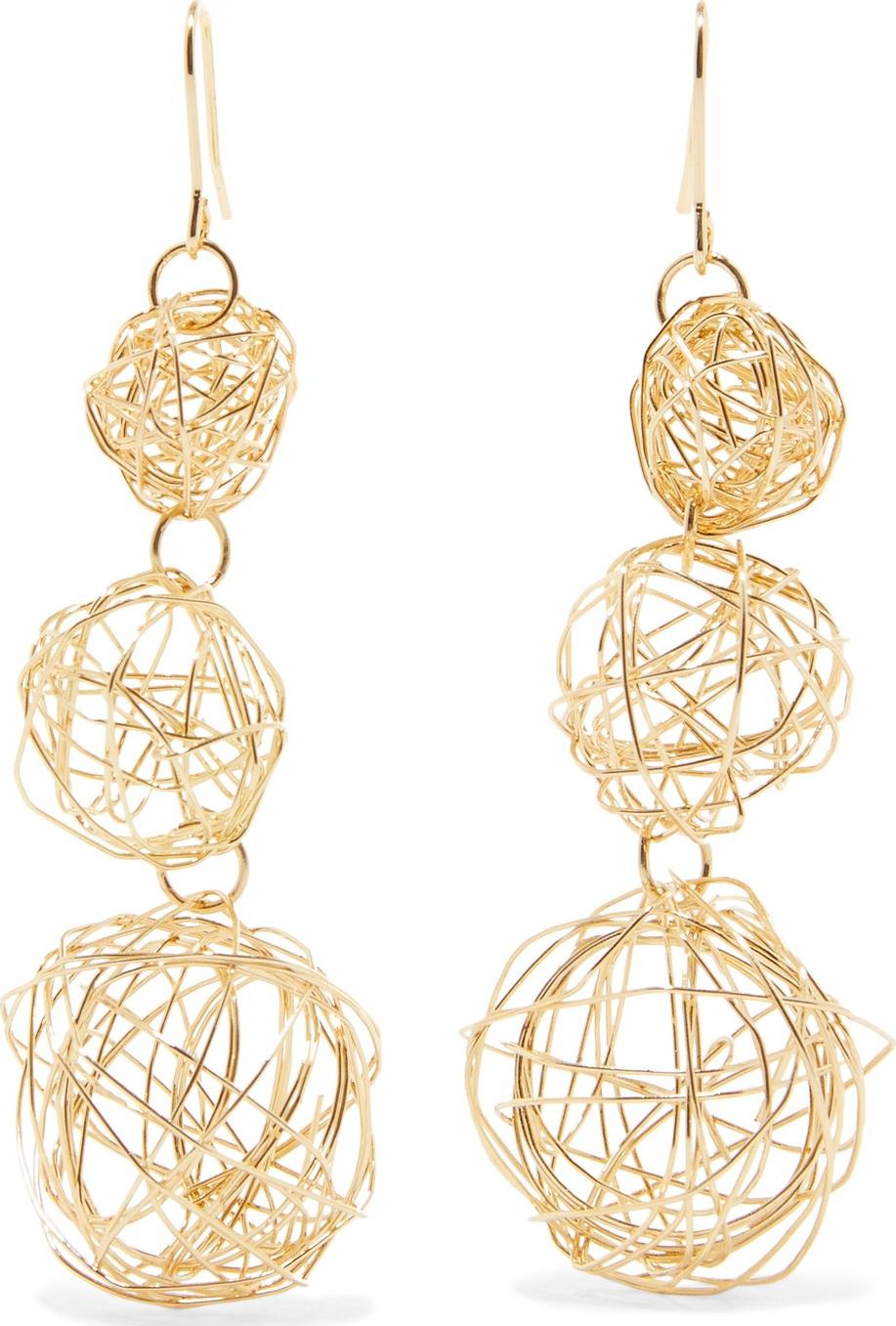 Kenneth Jay Lane - Gold-tone earrings