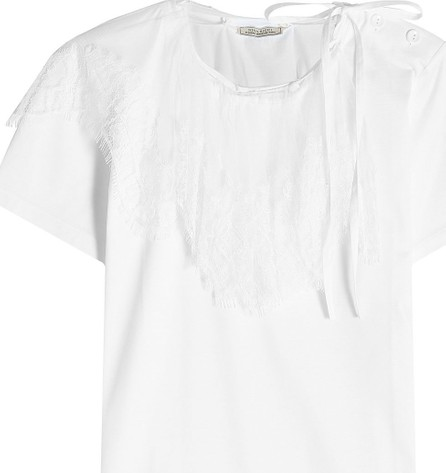 Nina Ricci Top with Lace and Self-Tie Bow