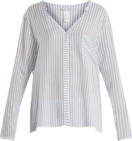 Hanro Striped patch-pocket shirt