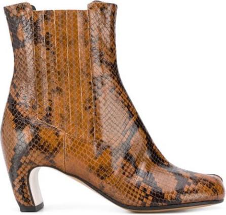 Maison Margiela Tabi toe snakeskin effect boots