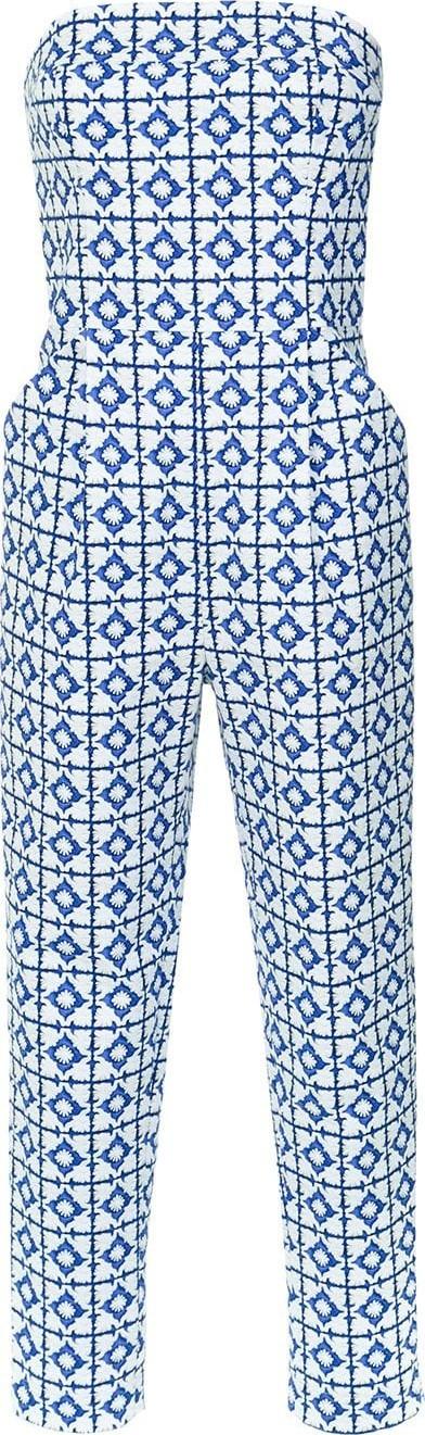 Andrea Marques Tile print bandeau jumpsuit
