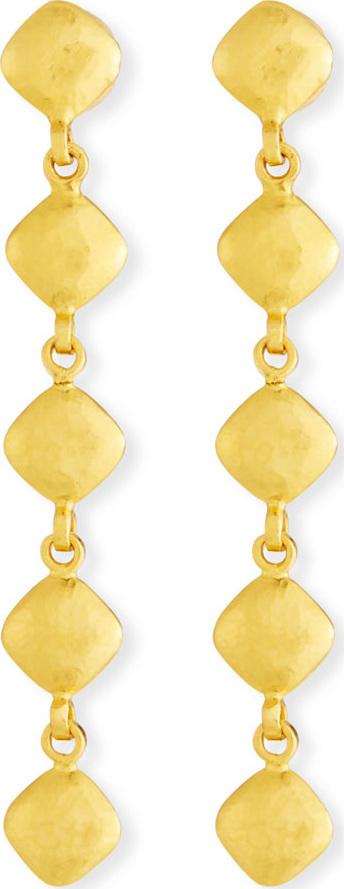 GURHAN 22k Spell Pebble Lentil Drop Earrings