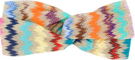 Missoni Zig zag pattern headband