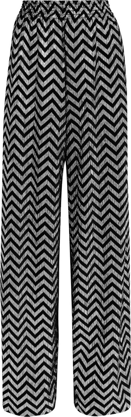 Alice + Olivia Elba metallic printed plissé-velvet wide-leg pants