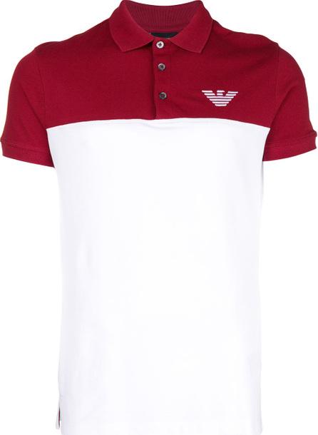 Emporio Armani Colour block polo shirt