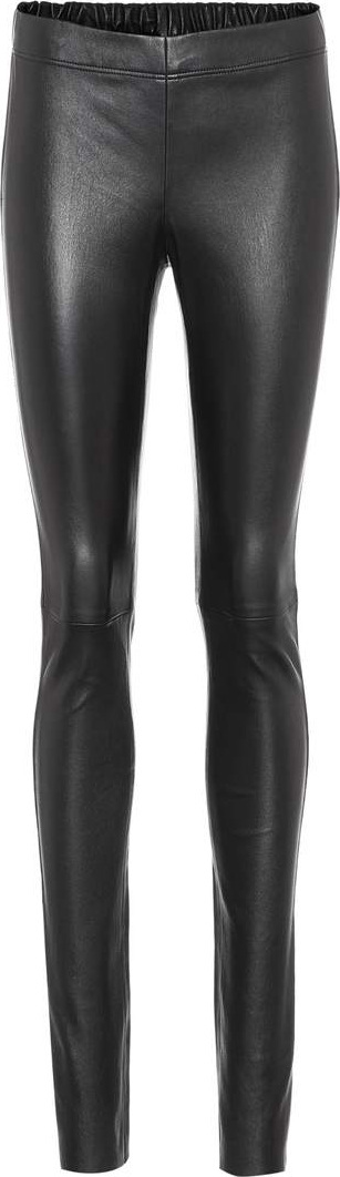 Joseph Leather mid-rise trousers