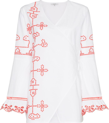 Ganni Peony embroidered tunic top
