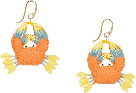 Prada Crab pendant earrings