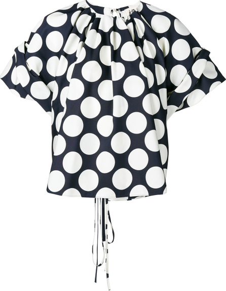 A.W.A.K.E Polka dot flared blouse
