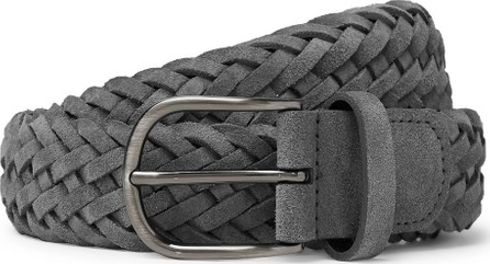 Anderson's 4cm Grey Woven Suede Belt