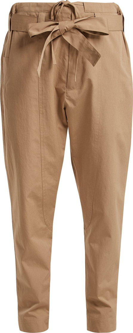 Colville High-rise cotton-blend trousers