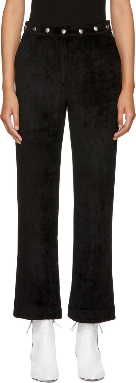 Alexachung Black Velvet Popper Tracksuit Trousers
