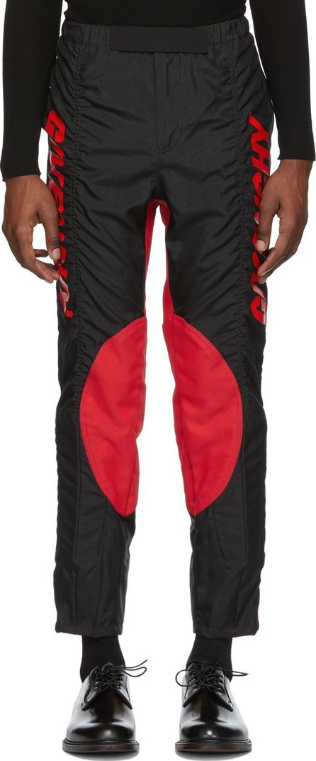 Givenchy Black & Red Two-Toned Biker Pants