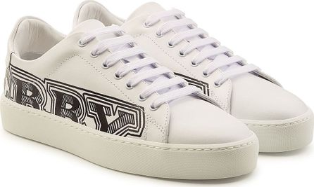 Burberry London England Westford Printed Leather Sneakers