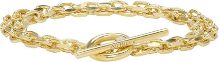All Blues Gold Polished Anchor Double Lap Bracelet