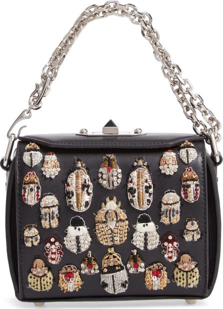 Alexander McQueen Embellished Box Bag 16 Leather Bag