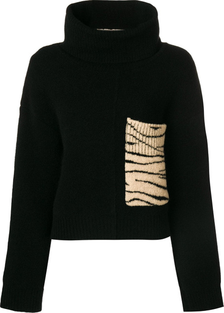 Ssheena Patched turtleneck sweater
