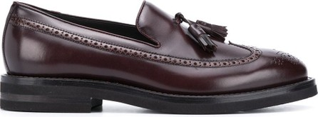 Brunello Cucinelli Perforated-detail tassel loafers