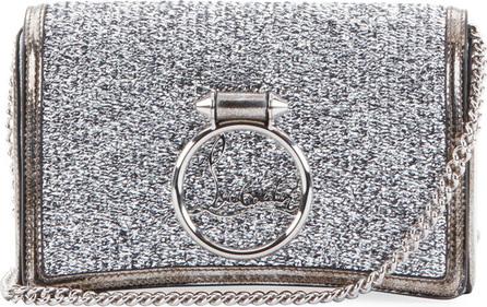 Christian Louboutin Ruby Lou Glitter Clutch Bag
