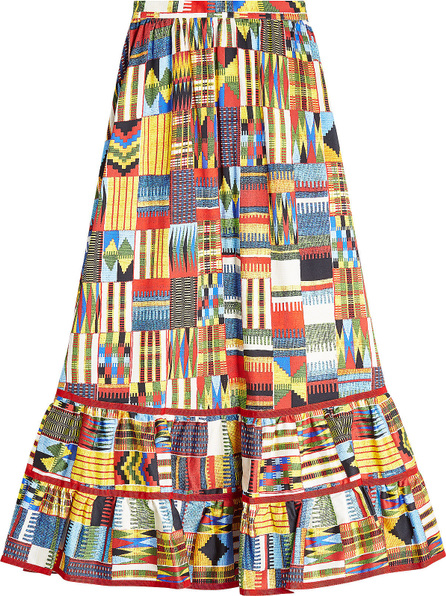 Stella Jean Batik Printed Cotton Skirt