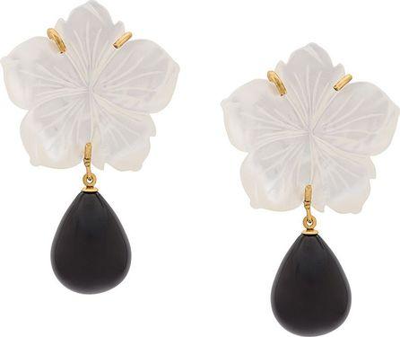 Lizzie Fortunato Paper White earrings