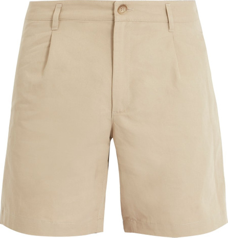 A.P.C. Benjamin cotton and linen-blend chino shorts