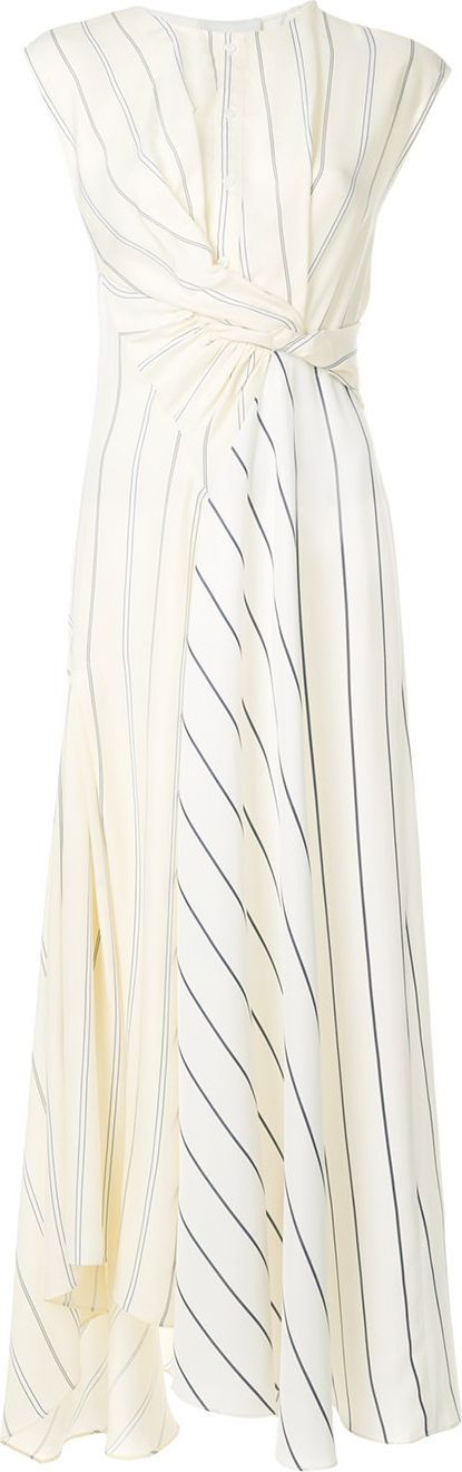 3.1 Phillip Lim Striped twist front dress