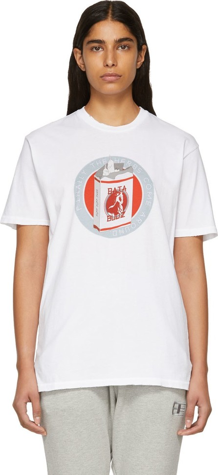 Baja East White 'Budja Budz' T-Shirt