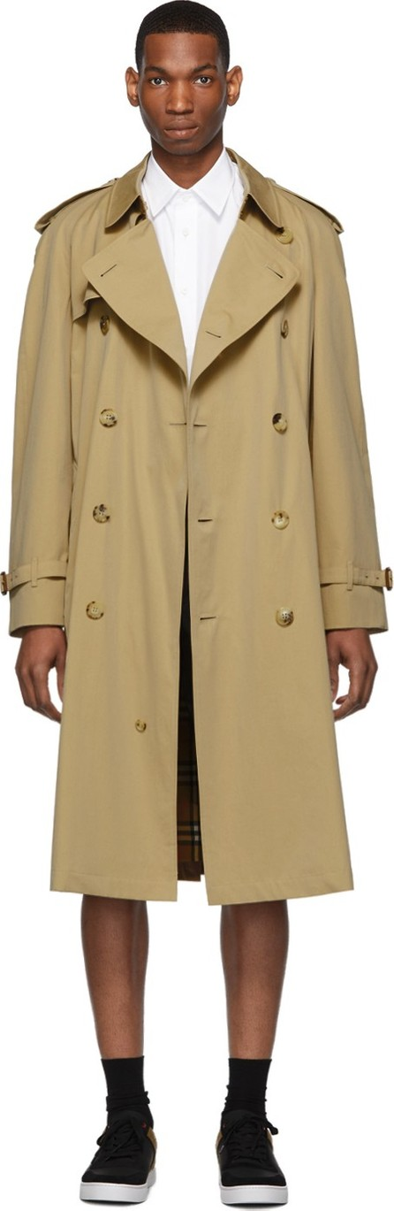 Burberry London England Beige Westminster Heritage Trench Coat