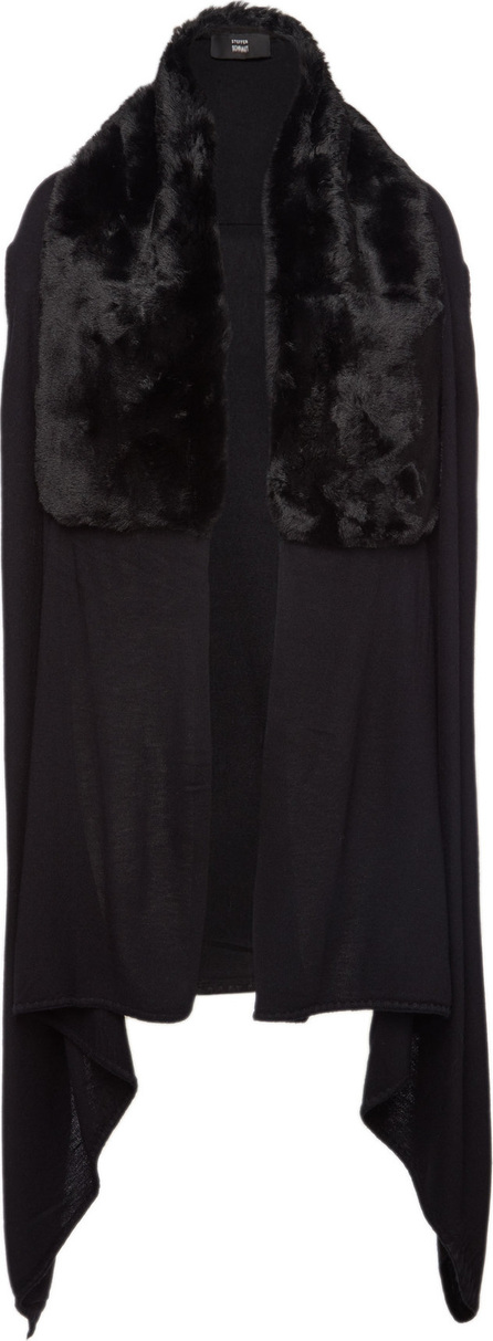 Steffen Schraut Vest with Cashmere and Faux Fur