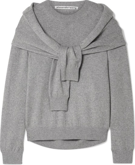 Alexander Wang Tie-front knitted sweater