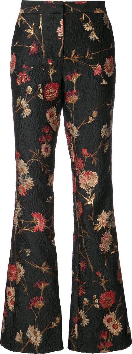 Prabal Gurung Floral bootcut trousers