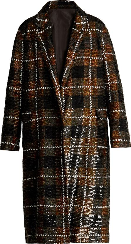 ASHISH Checked sequin-embellished cotton coat