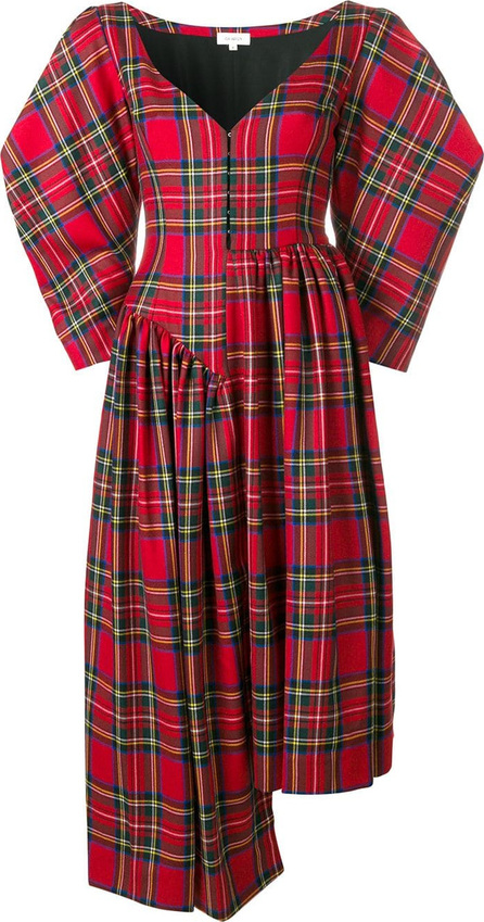 Isa Arfen Asymmetric tartan dress