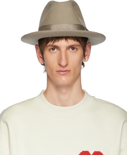 AMI Beige Merino Felt Hat