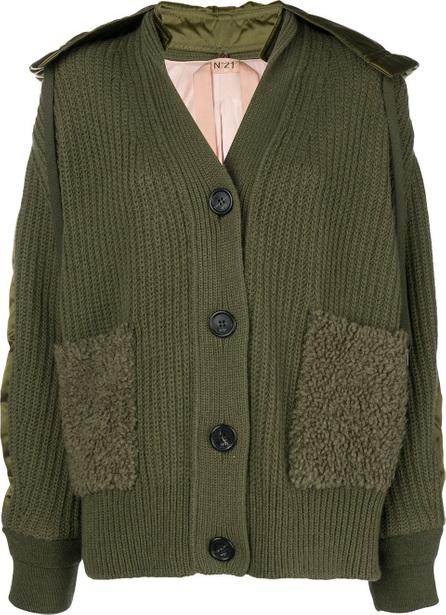 Nº21 Chunky knit bomber jacket