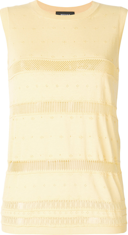 ROCHAS Fine knit sleeveless jumper