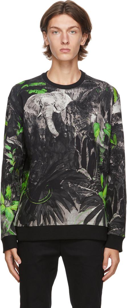Valentino Black Mural Jungle Sweatshirt