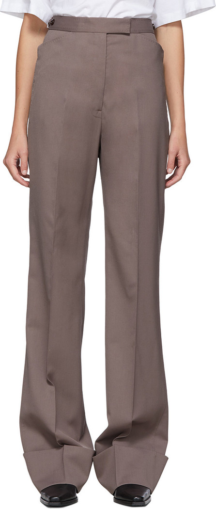 Lemaire Taupe Wool Straight Trousers