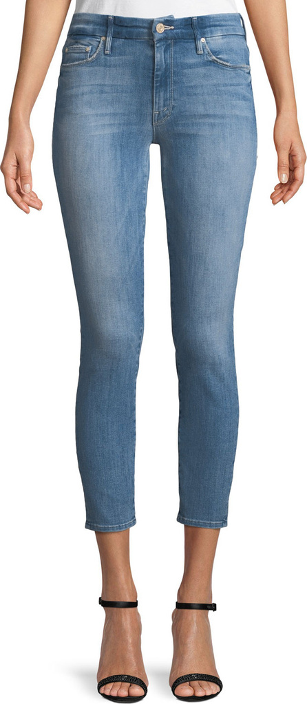 MOTHER Looker Cropped Denim Jeans