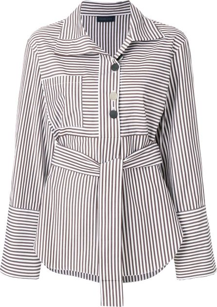Eudon Choi belted striped shirt