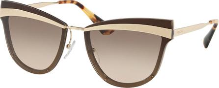 Prada Cat-Eye Propionate Mirrored Sunglasses