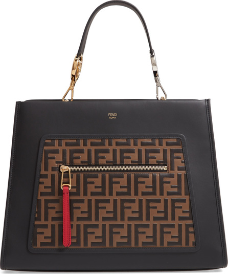 Fendi Runaway Century Calfskin Leather Satchel