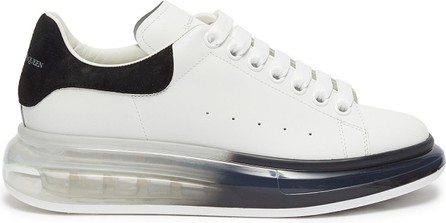 Alexander McQueen Contrast degrade transparent sole leather sneakers