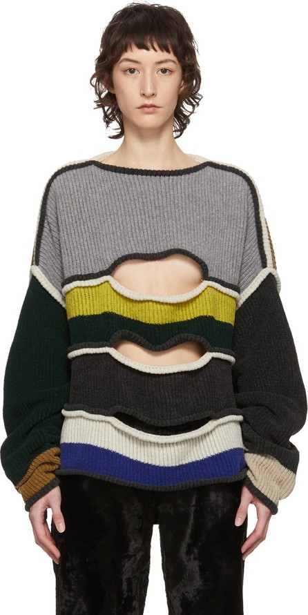 Eckhaus Latta Multicolor Striped Nihilist Sweater